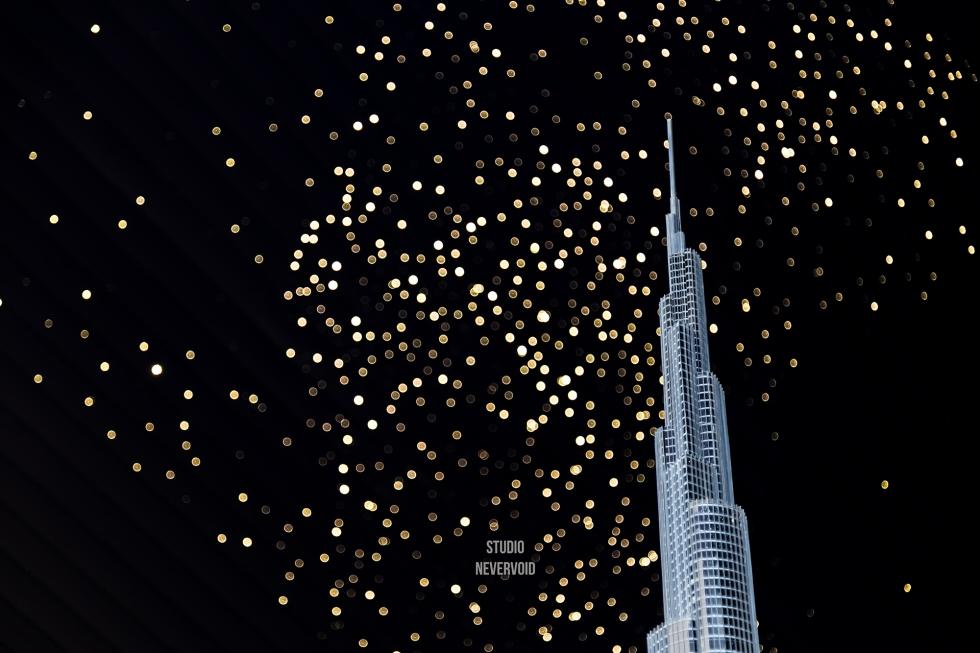 Burj Khalifa model building in Dubai Mall