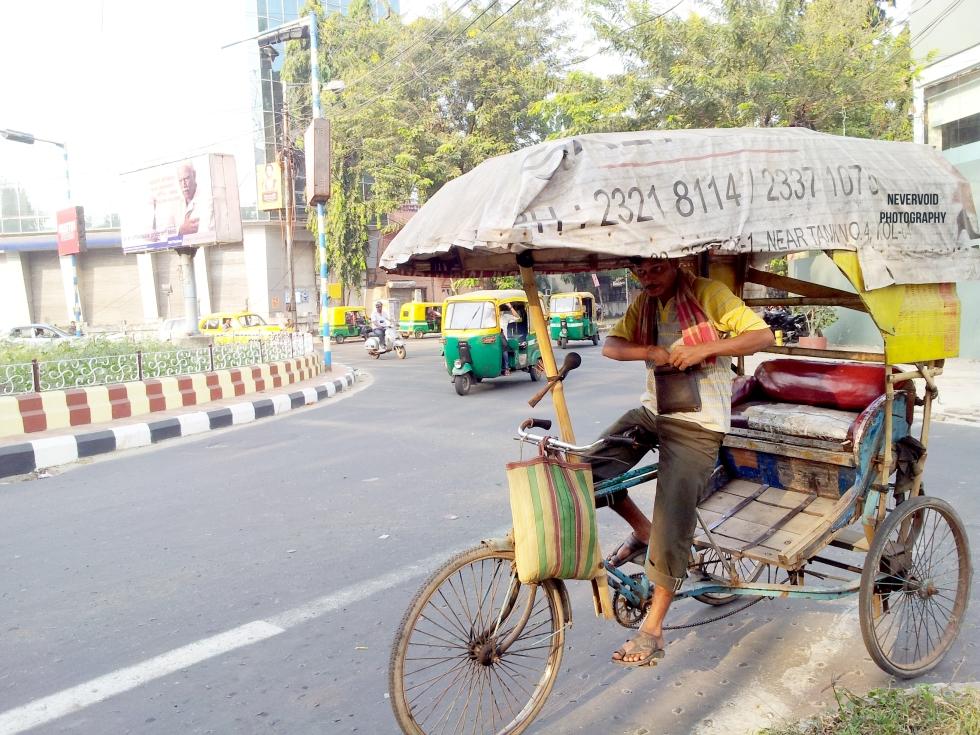 Rickshaws with roof - Kolkata